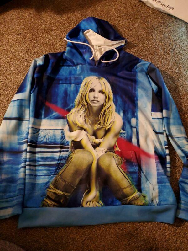 Britney Spears Memorabilia Hoodie Size Medium Album Cover Image Hoodie