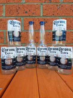 6 Corona glasses plus salt and pepper shaker set