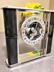 Custom Marble Accolade Time Zone Airline Designer's Table Clock Battery Operated