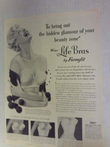 1954 Formfit New Life Bras Advertisement Sexy Pin Up Vintage  AD
