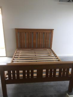 Queen size hardwood timber bed