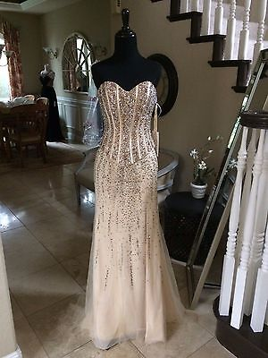 $698 NWT MAC DUGGAL PROM/PAGEANT/FORMAL/BALL DRESS/GOWN #82293M SIZE 4
