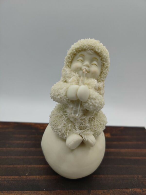 "Dept 56 2004 Snowbabies ""ICICLE TREAT"" Figurine Winter Christmas Décor 4"" Tall"