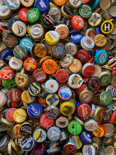 1000+ ASSORTED (65+ Different) BEER BOTTLE CAPS Many Colors!!! E