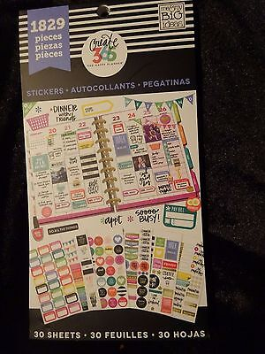 CREATE 365 Happy Planner STICKER BOOK 1829 pcs PRACTICAL,FITBIT,TO DO, FITNESS