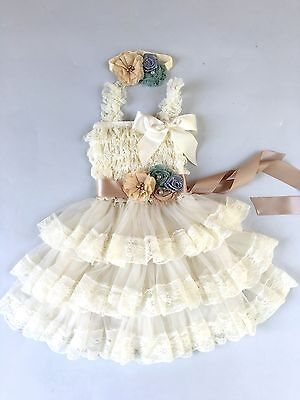 Flower Girl Dress girl Lace dress Baby Lace Dress-Rustic-Country AllSizes - Country Girl Dress