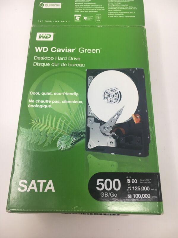 WD Green 500GB Internal Serial ATA Hard Drive for Desktops (OEM/Bare Drive) Silver WD5000AZRX