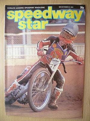 SPEEDWAY STAR MAGAZINE- 31 October 1981 VOL. 30 NO.33