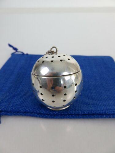 Modernist R. Blackinton Sterling Silver Apple Shaped Tea Ball Infuser, c1900