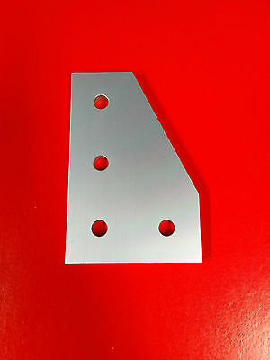 Tnutz Aluminum 4 Hole 90 Joining Plate 15 Series Pn Jp-015-g - Clear Anodize