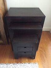 Dark triple set nest of tables and drawers - solid Mango Wood Balmain Leichhardt Area Preview