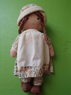 "Vintage 1970's Knickerbocker Holly Hobbie Friend Heather cloth doll 10"""