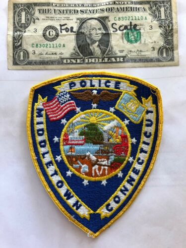 Middletown Connecticut Police Patch Pre-sewn  good shape