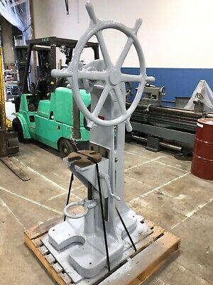 Greenerd 4 Floor Type Arbor Press With Adj. Knee And Pilot Wheel 4-ton Cap.