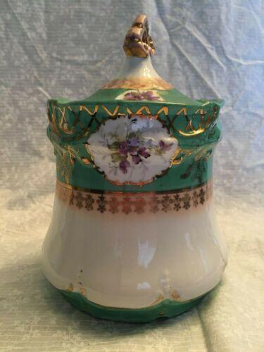vintage antique biscuit ginger jar Victoria Carlsbad Austria. Excellent