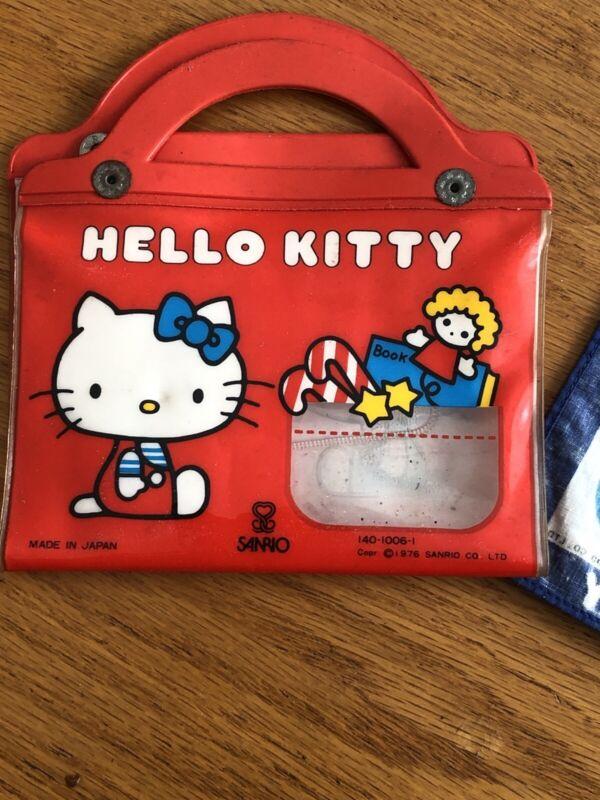 Vintage 1976 Hello Kitty Tissue Holder Purse