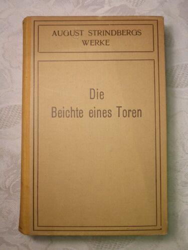 Die Beichte eines Toren, August Strindberg, Emil Schering, 1921, Georg Müller V.