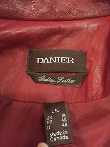 Women's Red leather jacket  Peterborough Peterborough Area image 2