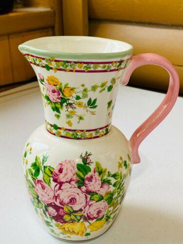 Pink Flower Pitcher Vase FTD