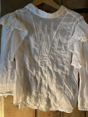 Isabel Marant White Embroidered Frill Size 40