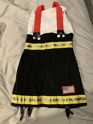 Sexy Backdraft Babe Firefighter Adult Halloween Costume Size (Babe Adult Kostüm)