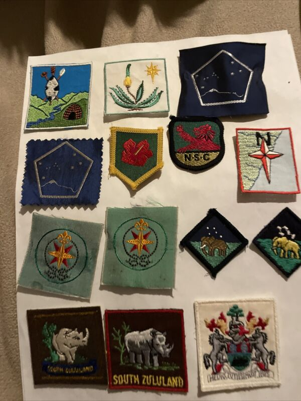 South Africa Lot of 18 Boy Scout Patches Including South Zululand,  Southlands