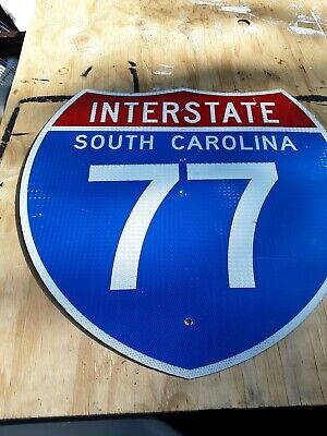 Real road,street,highway Interstate 77 sign. Aluminum. Used. Last one available. Highway Street Sign