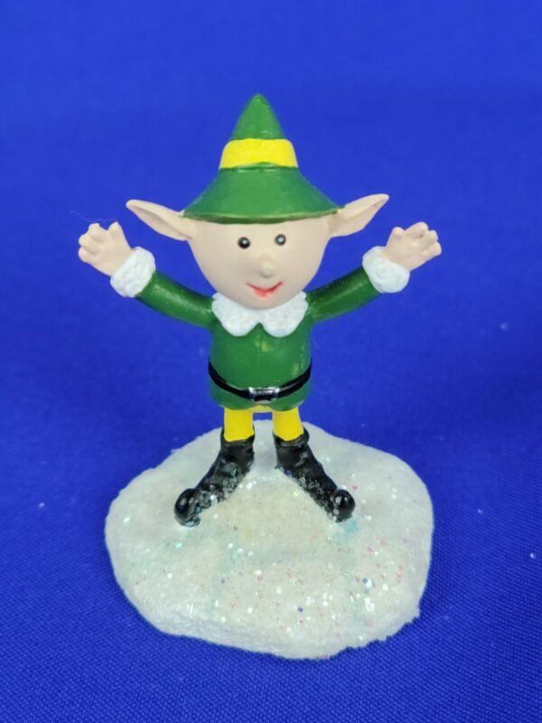 Hawthorne Village Rudolph Christmas Town Elf Cheering Green Suit