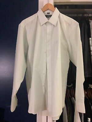 Versace Classic V2 Dress Shirt Button Up Off White Cream Mint Size 17 Large / XL