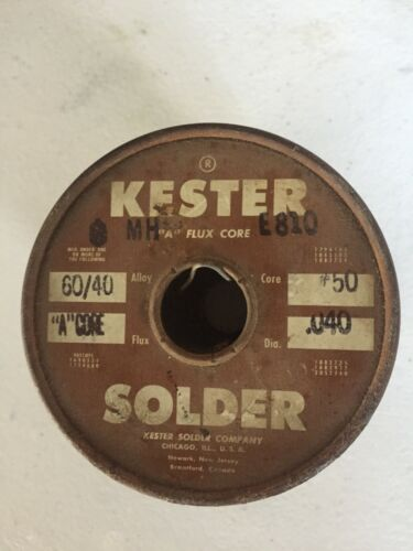 Vintage Kester 60/40 Solder - 5lbs. - Please see the picture