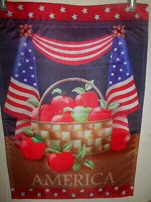 American Apple Basket   Garden Flag  12