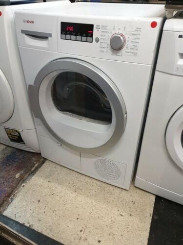 Bosch WTB86590GBGB 9KG Condenser Dryer in white with 3 months guarantee