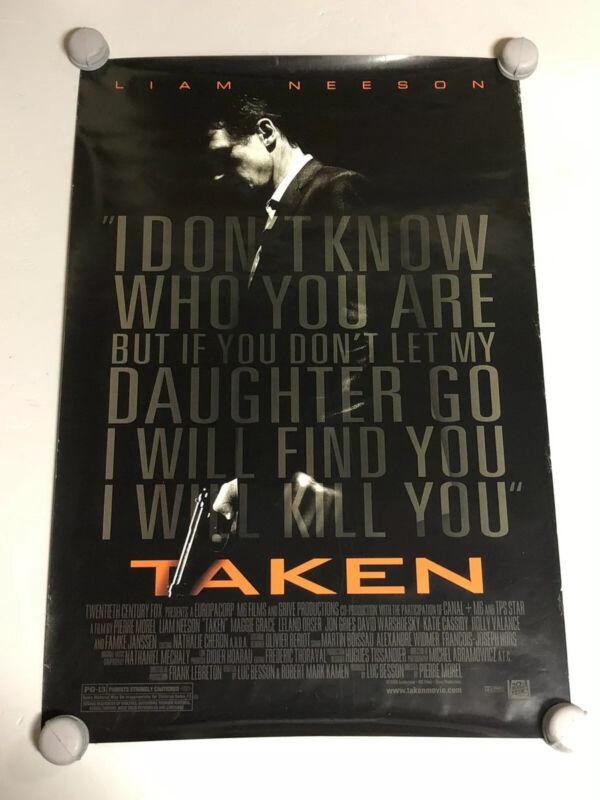 "Taken Original One Sheet Movie Poster 40""x27"" Liam Neeson First Movie Rare"