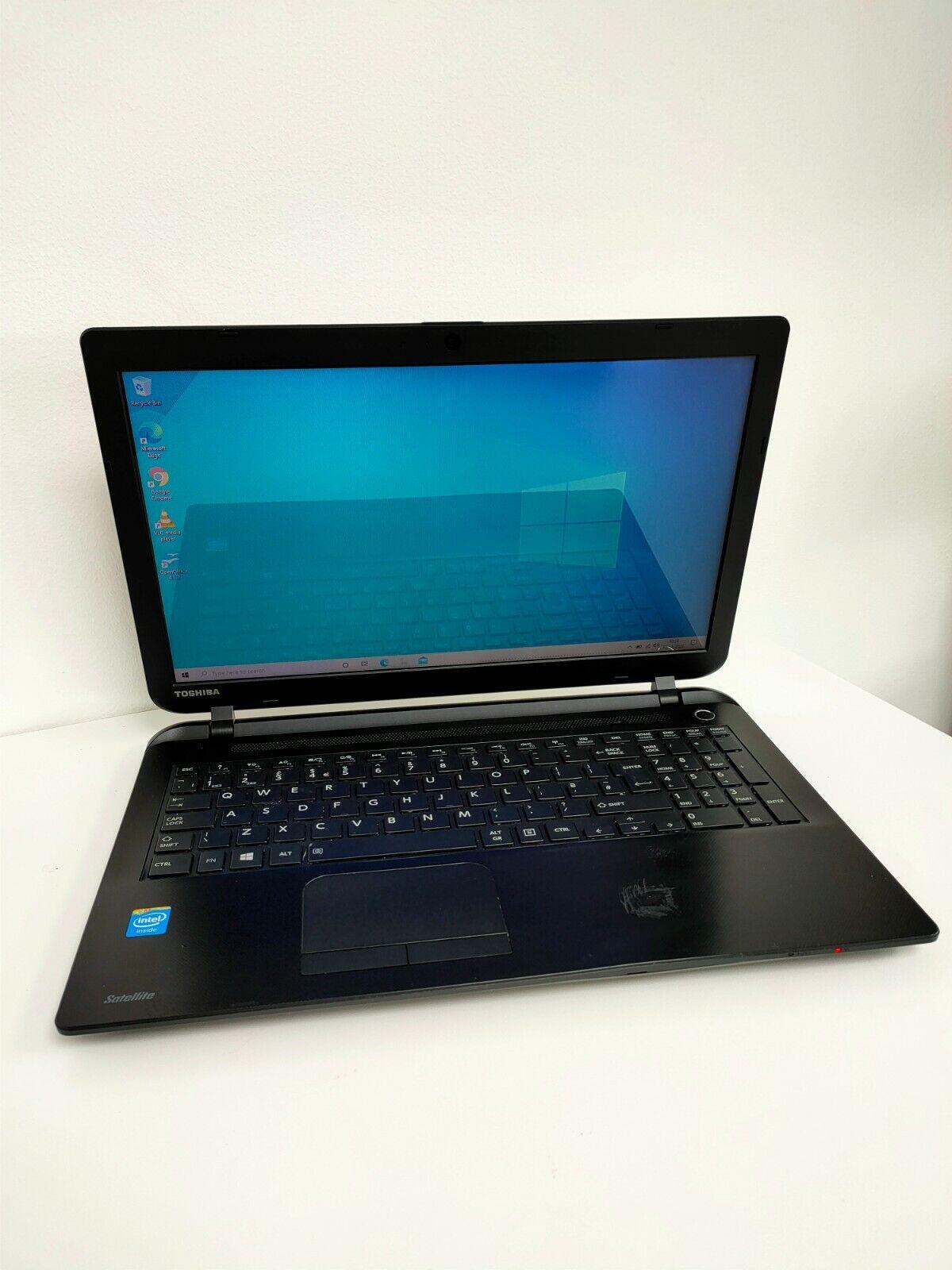 "Laptop Windows - Toshiba Satellite C50-B 15.6"" Laptop Intel Celeron 4GB RAM 500GB HDD Windows 10"