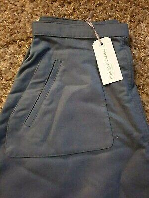 King & Tuckfield Steel Blue Line Skirt Medium