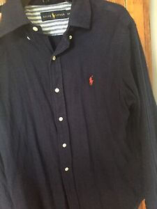 Ralph Lauren navy blue dress shirt (30$. Size small)
