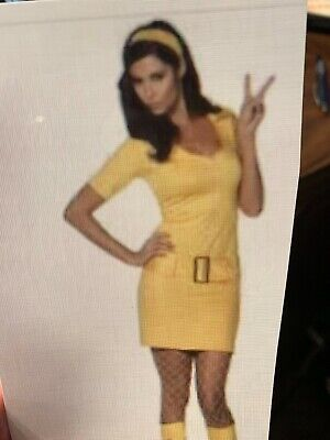 Yellow Dress Costume (Yellow 60s Mod Costume Dress with)