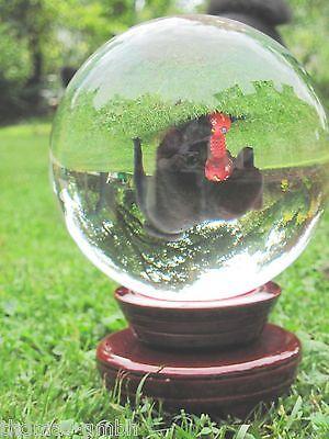 Wahrsager Kristallkugel Magie massiv Glas Kugel  klar und lupenrein 20 cm.11Kg