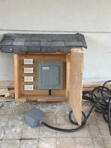 Electrical panel outdoor