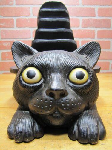 "Big Black Cat Store Display Halloween Figurine Statue Art 6 Shelf Lrg 26""x14""x8"""