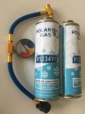 CAR Aircon Refill Regas Air Conditioning Top up R1234YF Gas hose replacement X2