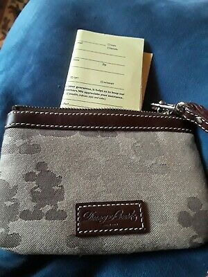 Disney Dooney And Bourke Tonal Wristlet New with Registration