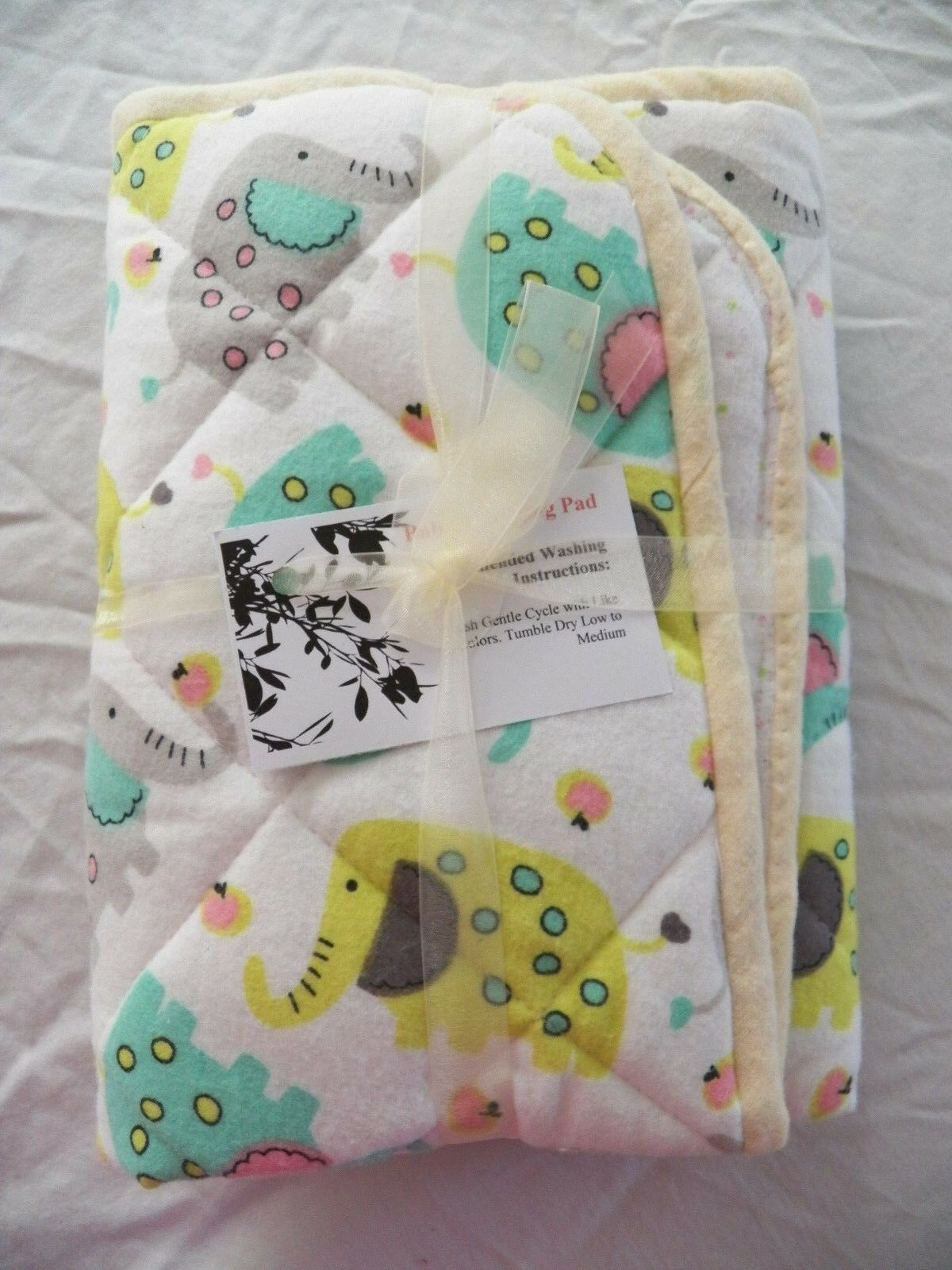 BABY CHANGING PAD Portable Diaper Travel Mat Cotton Washable Padded Handmade NEW 12