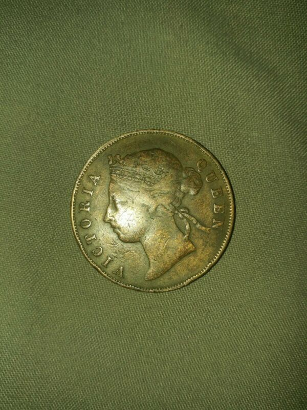 1888 Mauritius 5 Cents .QUEEN VICTORIA LOW MINTAGE COIN