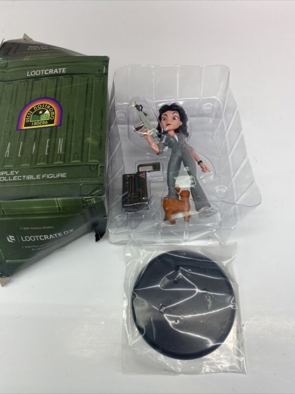 Loot Crate DX Exclusive Alien Ripley Jonesy The Cat Vinyl Figure With Stand