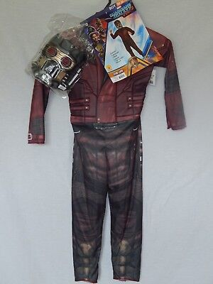 NEW Starlord Figure Guardians of the Galaxy Halloween Costume Mask Boys M 8-10 (Name Of Halloween Costumes)