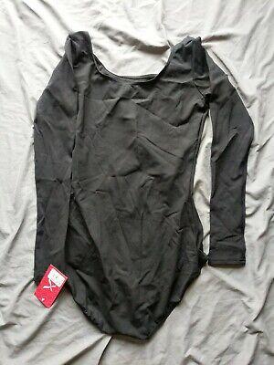 Capezio Womens Team Basics Adult Long Sleeve Leotard (TB135) Size XL black New  Adult Long Sleeve Leotard