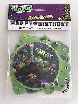 Tennage Mutant Ninja Turtle Happy Birthday Party Banner - Ninja Turtle Happy Birthday
