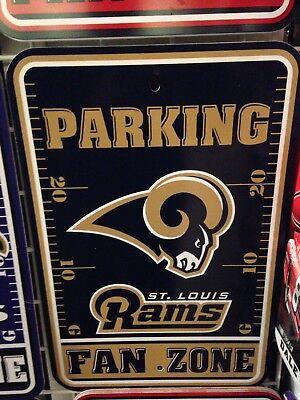 St. Louis Rams Fan Zone Parking Sign - New Item!