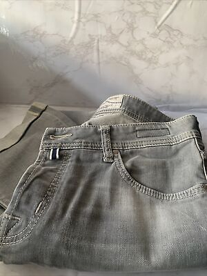 Handmade Jacob Cohen Jeans Size 34 Grey Jeans With Gray Stitching Luxury